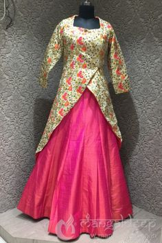 http://www.mangaldeep.co.in/lehengas/appealing-look-in-golden-and-pink-in-readymade-designer-partywear-indowestern-suit-7910 For more information :- Call us @ +919377222211 (Whatsapp Available)