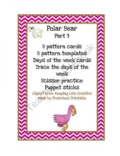 Polar Bear Part 3 from Fun Printables for Preschoolers on TeachersNotebook.com (10 pages)  - Polar Bear