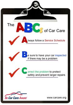 #September means #backtoschool...and a great time to remember the ABCs' of car care!