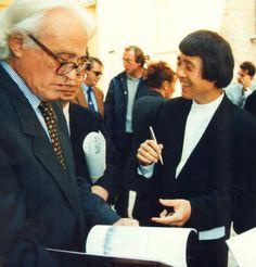 mIo papà Glauco con Tadao Ando