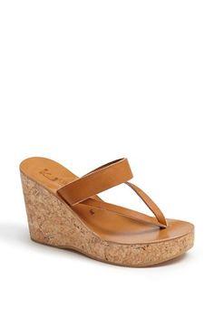 K.Jacques St. Tropez 'Saturnine' Cork Wedge Sandal available at #Nordstrom
