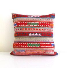 Lanna Hmong tribal cotton pillow cover in beige by LittleAtticshop, $40.00  cool pillows