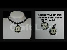 Rainbow Loom Mini Soccer Ball Charm Tutorial ~ One Loom