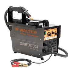 The SURFOX 304 is our new patented electrochemical cleaning system with a flowthrough system, which facilitates the cleaning of MIG, TIG and spot welds, without altering the surface of the parent material. Paired with two new durable high resistant and conductive cleaning brush applicators, it allows for quick and efficient cleaning.