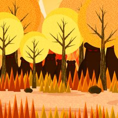 Illustrator Tutorial: Create a Cartoon Bear Scene Using Repeating Shapes in Adobe Illustrator