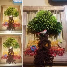 Resultado de imagen para telares decorativos árboles decorativos