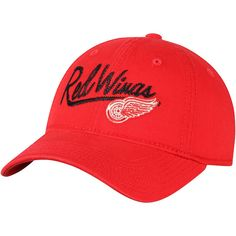 f8fd78db1a6 Women s Detroit Red Wings adidas Red Top Stitch Adjustable Hat