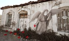 Beautiful piece by Fikos in Athens called Wasted Love.