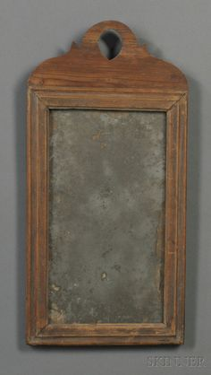 18th c. country Queen Anne looking glass with grungy surface. www.skinnerinc.com Old Mirrors, Vintage Mirrors, Mirror Mirror, Colonial America, Primitive Antiques, Country Furniture, Through The Looking Glass, Teaching Art, Vintage Home Decor