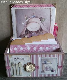 Blog de manualidades. Decor home, scrapbooking, mixed media y decoupage. Creaciones propias.