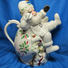 New Boxed Lenox Holiday Figural Shaped Santa Christmas Teapot | eBay