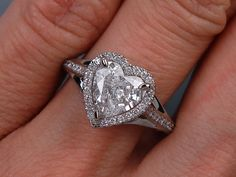 1.38 ctw Heart Shape Diamond Engagement Ring G SI3. For sale on our website www.bigdiamondsusa.com or call us at 1-877-795-1101 for more information.