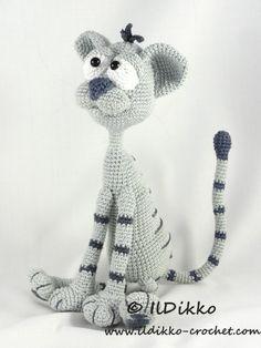 Kit the cat amigurumi pattern by IlDikko