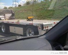 WIDE-LOAD: Mini toy truck...