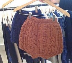 Cable knit shorts = adorable