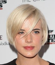 The 20 Hottest Bob Hairstyles for 2015: Model Agyness Deyn's Side-swept Bangs With Bob