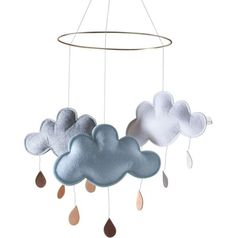 Konges Slojd Cloud Mobile - Grey, White & Blue #ShnuggleUp #Competition