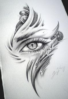 Biomech Dragon Eye Dragon Child by JKingsArt on DeviantArt Art Drawings, Tattoo drawings Tattoo Design Drawings, Cool Art Drawings, Pencil Art Drawings, Art Drawings Sketches, Creepy Drawings, Kunst Tattoos, Body Art Tattoos, Dragon Eye Drawing, Creepy Eyes