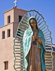 El Santuario de Guadalupe, Santa Fe, NM She is very very big in person, I like her. :)