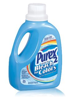 Purex 2 Color Safe Bleach - Liquid  This is great to use on colored clothing that can't be washed with regular bleach. #mypurexfavorites