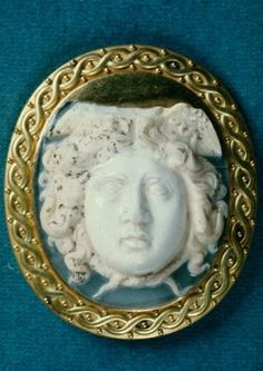 Cameo with head of Medusa  Roman, Imperial Period, 2nd–3rd century A.D.