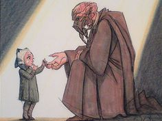 Plo Koon with little Ahsoka Tano