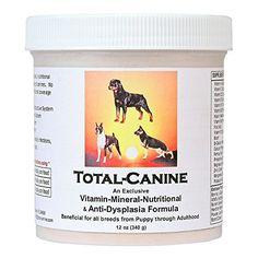 TotalCanine  Exclusive all natural nutritional support formula beneficial for all breeds of dogs -- Details can be found by clicking on the image.
