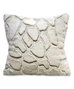This Snow Giraffe Cutwork Sherpa Throw Pillow is perfect! #zulilyfinds