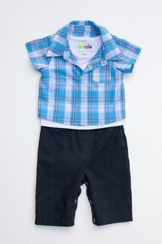 Ready for a fancy dinner date in this stylish baby onesie! Baby Onesie, Onesies, Stylish Baby, Our Baby, Winter Collection, Plaid, Fancy, Dinner, Boys