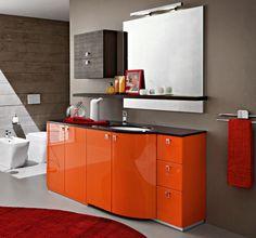 glossy orange with s