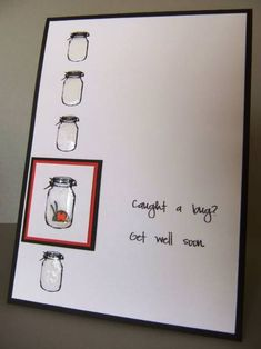 use with mason jar images cute get well card