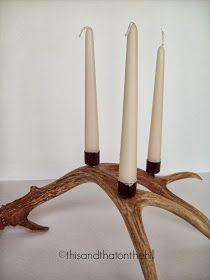 diy antler candle holders