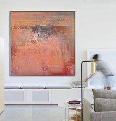 Große abstrakte Kunst handgemachtes Ölgemälde auf Leinwand, zeitgenössische Kunst, Original abstraktes Gemälde Leinwand Artt - durch Biao, Celine Dirk Kunst