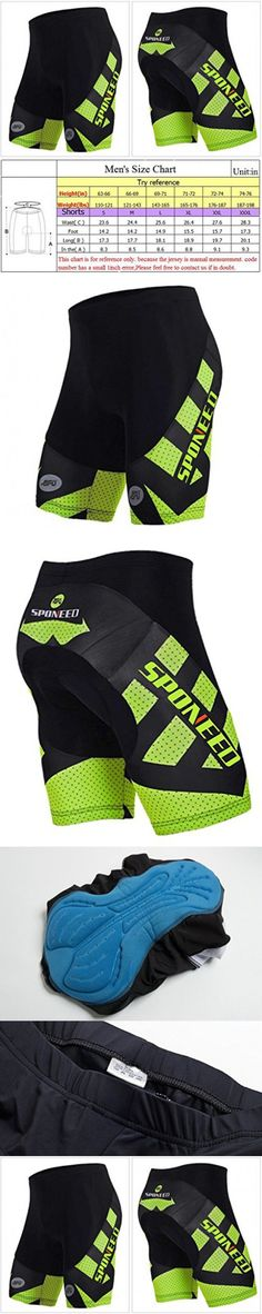 Sponeed Men's Cycle Shorts Tights Biking Bicycle Bike Bottom Padds Asia XXXL/ US XXL Green Hornet
