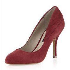 Steve Madden Red Suede Heels Size 7 1/2 barely worn red suede Steve Madden heels Steve Madden Shoes Heels