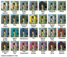 Cuprinol Garden Shades 1 litre Yellow Things b&q yellow building sand Painted Garden Sheds, Painted Shed, Shed Paint Colours, Cuprinol Garden Shades, Building Sand, Greenhouse Plans, Garden Painting, Back Gardens, Gardens
