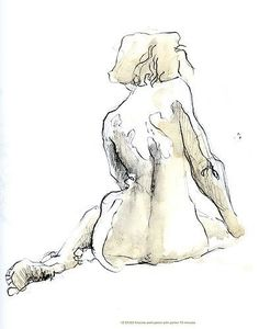 life kristine by James Rose life drawing The use of continuous individual lines with hints of colours to create tone and form Figure Sketching, Figure Drawing Reference, Sketch Painting, Figure Painting, Watercolor Sketch, Life Drawing, Form Drawing, Drawing Poses, Drawing Ideas