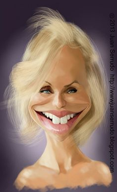 By far, she's the one celebrity on this board that has the most. Cartoon People, Cartoon Faces, Funny Faces, Cartoon Art, Crazy Funny Pictures, Funny Pictures Of Women, Funny Caricatures, Celebrity Caricatures, Famous Cartoons