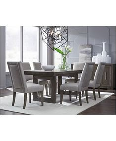 Dinning Table Set, Dinning Room Sets, Grey Dining Tables, Dining Room Table Decor, Luxury Dining Room, Dining Room Design, Modern Dining Room Furniture, Modern Dining Rooms, Room Decor