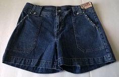Ethyl Classic Vintage Women's Denim Shorts NWT Size 8 #Ethyl #Denim