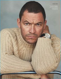 Dominic West offers a brooding gaze as he graces the pages of British GQ Style's fall-winter 2016 issue. Photographed by Blair Getz Mezibov, West is styled by… Uk Fashion, Knit Fashion, Autumn Fashion, Fashion Trends, Gq Style, Classic Style, Dominic West, Actors Male, Senior Guys