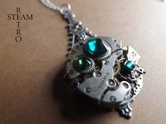 A Forest - Steampunk Pendant necklace - Steampunk Jewelry by Steamretro -
