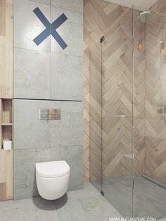Wood Bathroom, Bathroom Renos, Laundry In Bathroom, Bathroom Interior, Interior Design Living Room, Small Bathroom, Dream Home Design, House Design, Corner Wall Decor