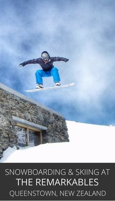 Snowboarding And Skiing At The Remarkables, Queenstown, New Zealand — the snow…
