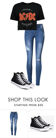 """""""Untitled #90"""" by kbwalrus on Polyvore featuring Converse and Boohoo"""