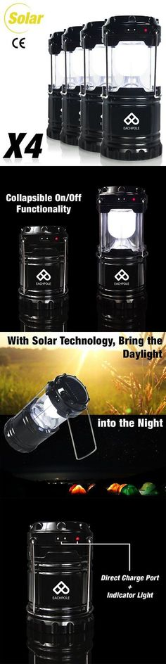 Lanterns 168867: Partysaving [4-Pack] Camping Hiking Solar Rechargeable Led Lantern With Dual And -> BUY IT NOW ONLY: $35.17 on eBay!