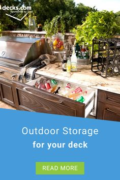 With the right approach to outdoor storage and a few tips, you can make the most of your space and can even make your storage areas more pleasing to the eye. Creative Deck Ideas, Storage Area, Outdoor Storage, Your Space, Make It Yourself, Eye, Tips, Counseling