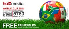 FIFA World Cup 2014 Schedule - free printables # World Cup 2014, Fifa World Cup, Soccer Ball, Continents, Booklet, Creative Design, Schedule, Halo, Free Printables