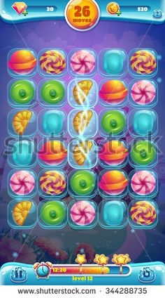 game interface sweet world mobile game user interface gui playing field Voxel Games, Level Design, World Mobile, Make Your Own Game, Graphics Game, Android Mobile Games, Game Ui Design, Ux Design, Candy Games