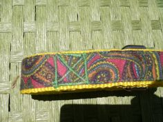Colorful Paisleys Leash, matching collar available too!